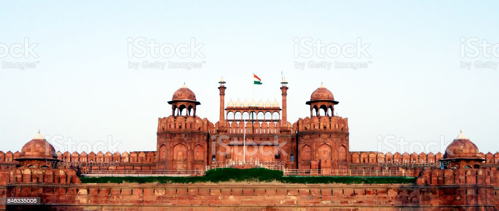 Lal Qila (Red Fort) in Delhi. stock photo