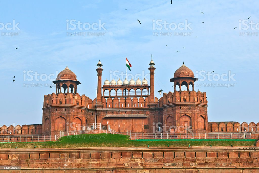 Lal Qila, red fort in Delhi stock photo