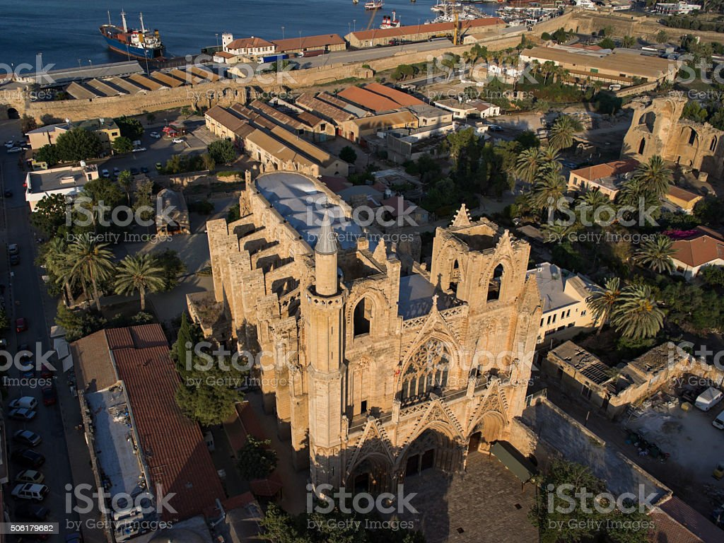 Lala Mustafa Pasha Mosque. Cathedral of St Nicholas. Cyprus stock photo