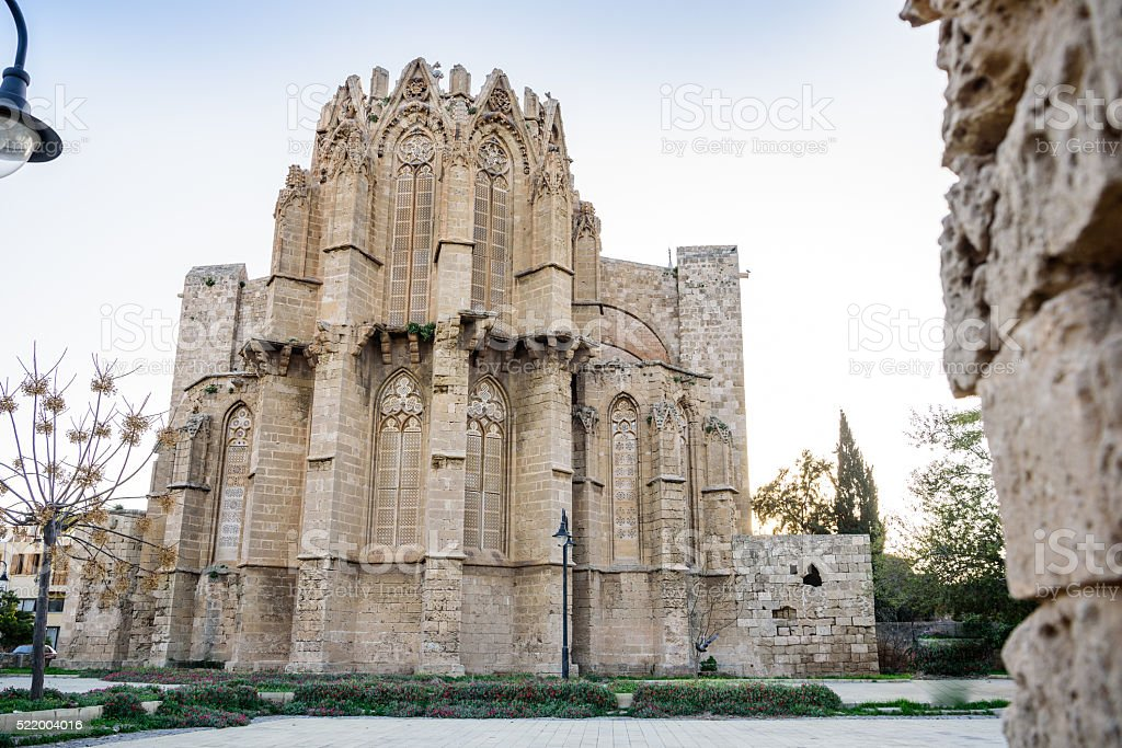 Lala Mustafa Pasha Mosque in Famagusta, Cyprus stock photo