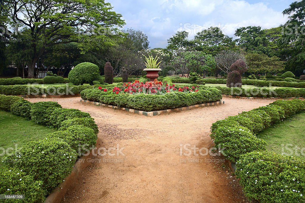 Lalbagh botanical garden in Bangalore stock photo