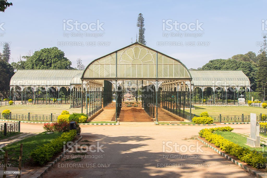 Lalbagh Glass House in Bangalore, India stock photo