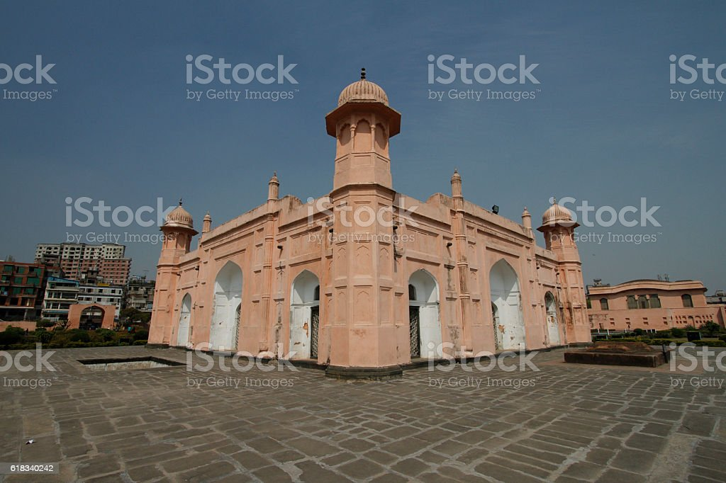 Lalbagh mughal gardens in central Dhaka stock photo