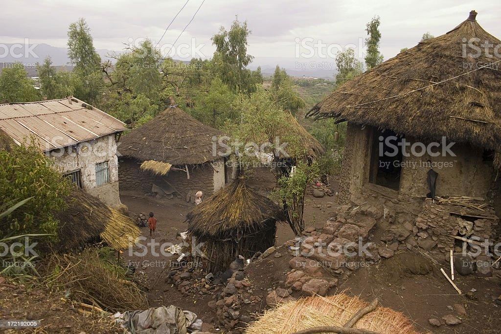 Lalibela, a famous Ethiopian village royalty-free stock photo