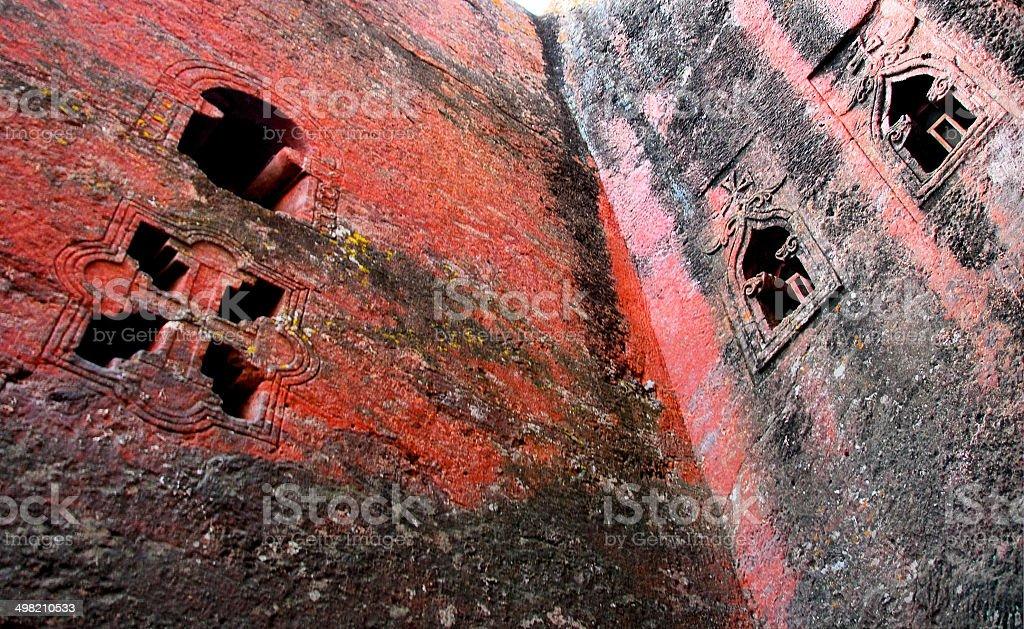 Lalibela: Bete Mikael, Saint Michael church detail royalty-free stock photo