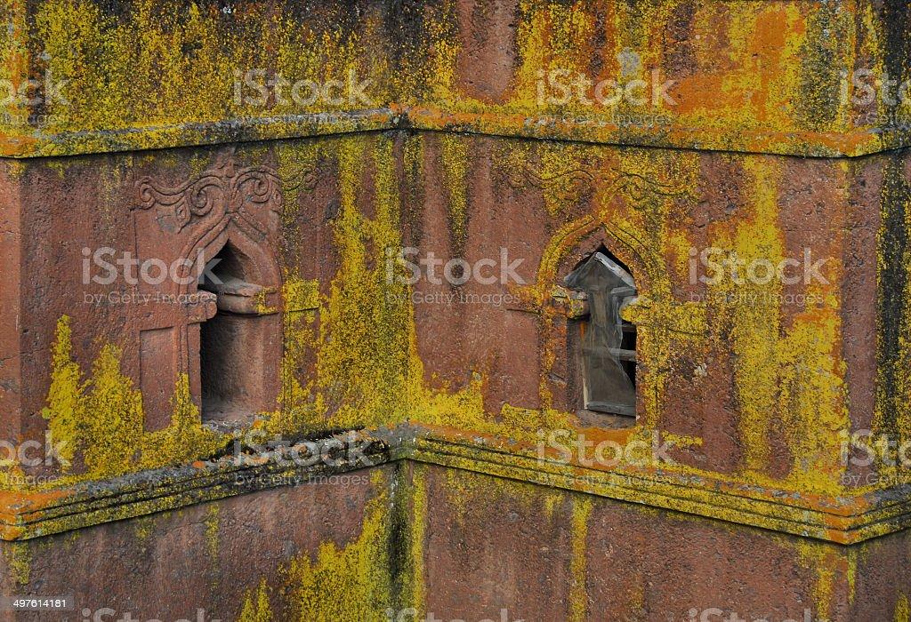 Lalibela, Ethiopia: rock-hewn Church of Saint George stock photo