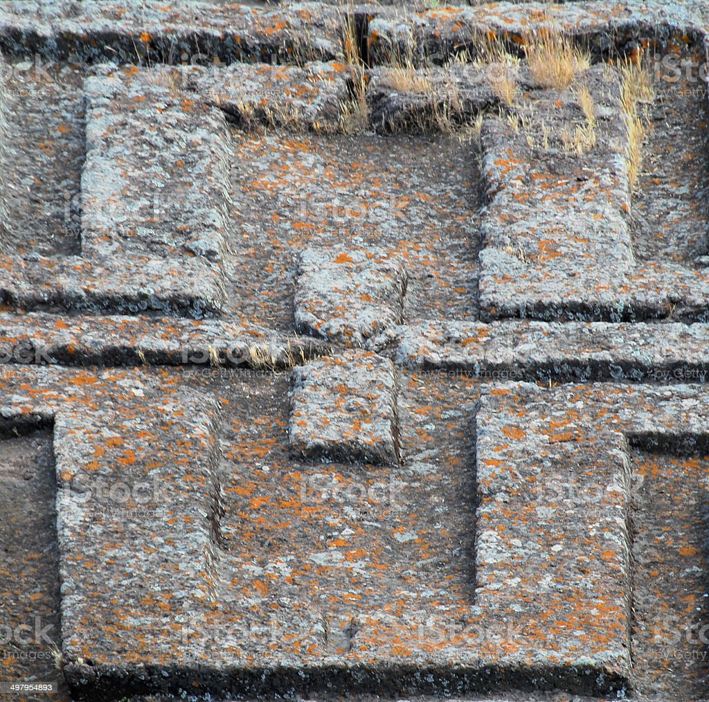 Lalibela, Ethiopia: rock-hewn Church of Saint George royalty-free stock photo