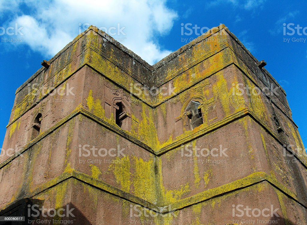Lalibela, Ethiopia: rock-hewn Church of Saint George royalty-free stock photo