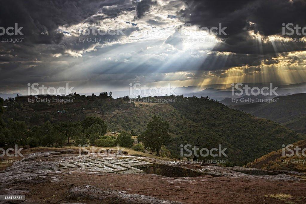 Lalibela  Saint Giorgis Church royalty-free stock photo