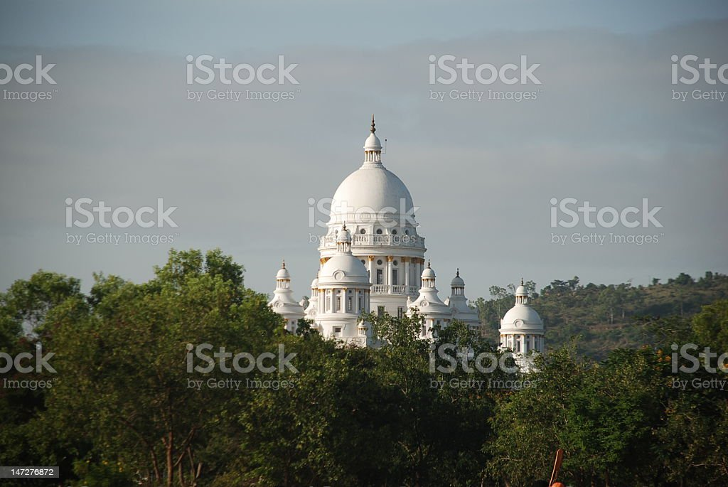 Lalith Mahal Palace against undergrowth royalty-free stock photo