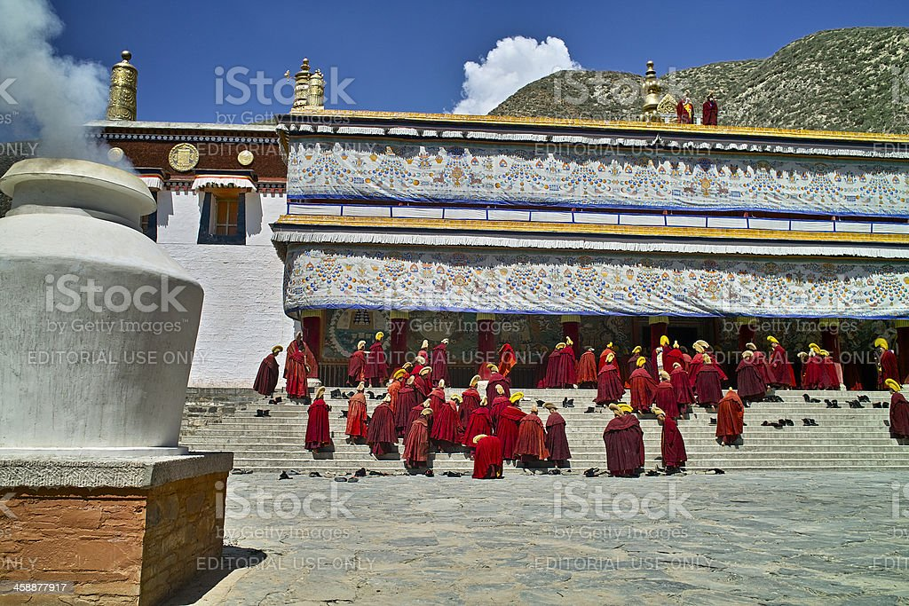 Lama in Labrang Monastery royalty-free stock photo
