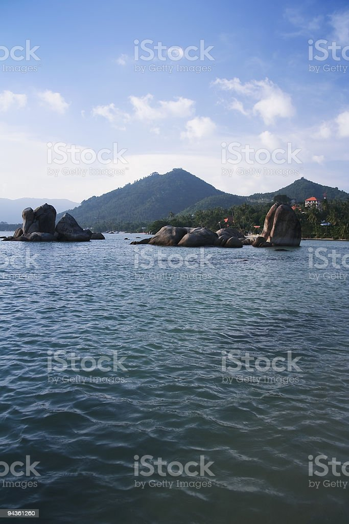 lamai beach boulders koh samui thailand royalty-free stock photo
