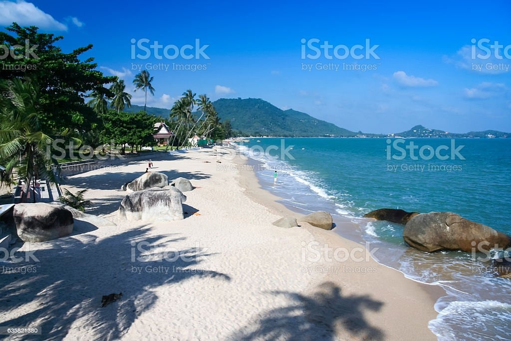 lamai beach ko samui island thailand stock photo