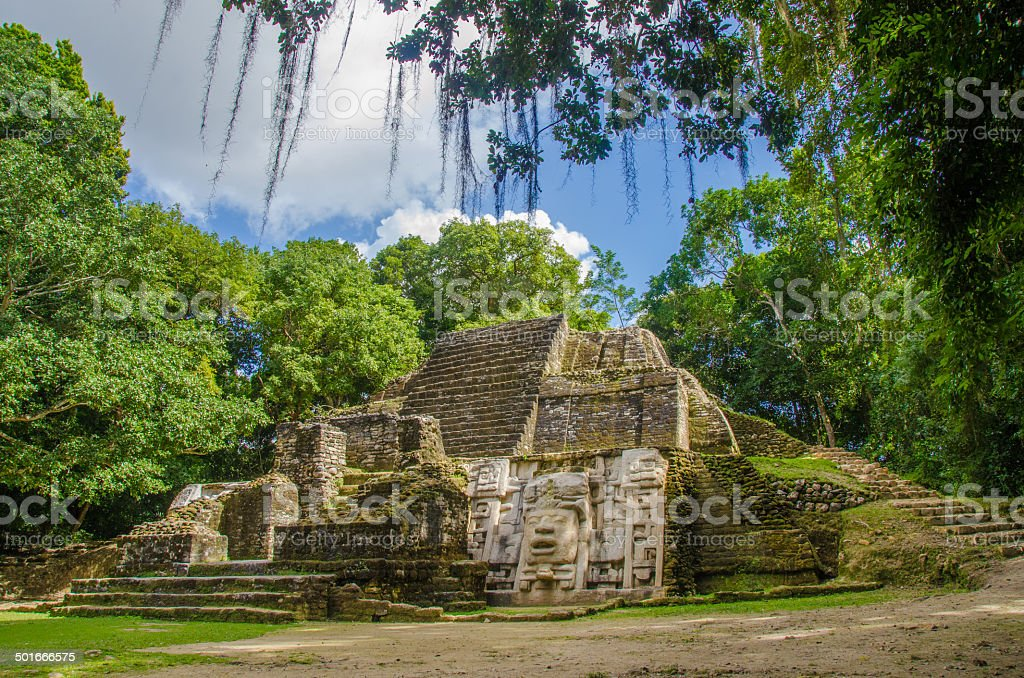 Lamanai Ruins in Belize stock photo