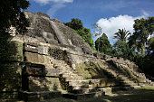 Lamanai temple, Mayan archaeological site, Belize.
