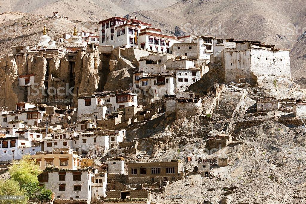 Lamayuru gompa - buddhist monastery in Indus valley stock photo