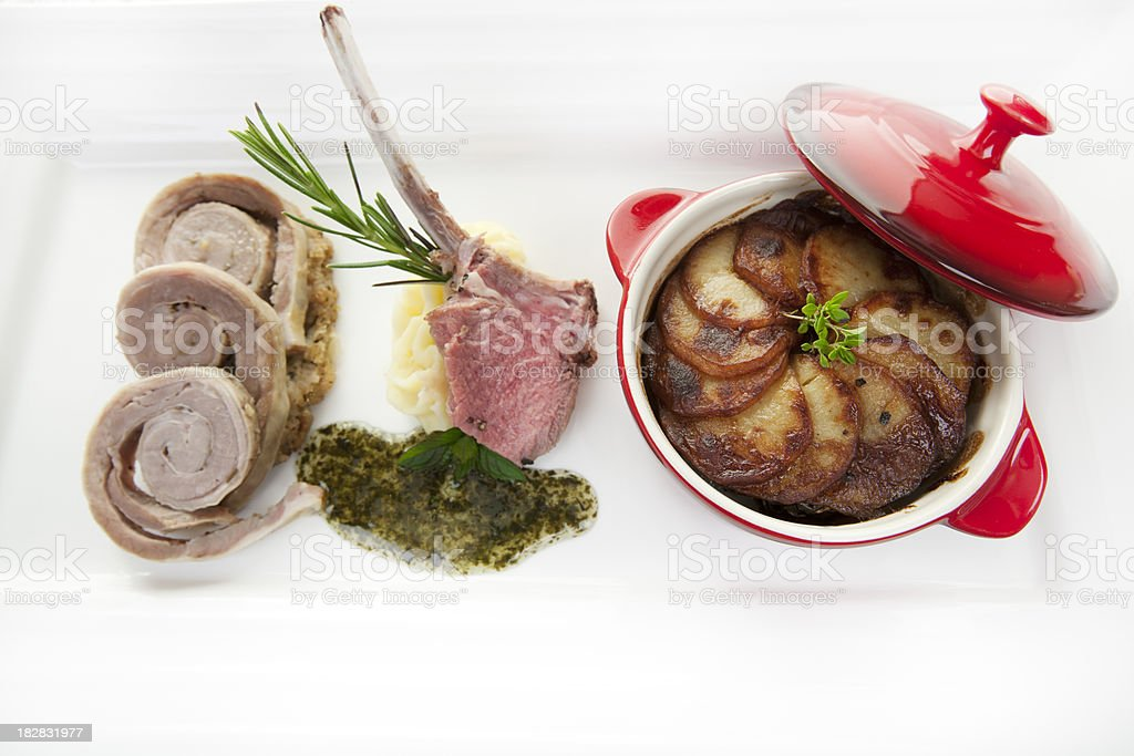 lamb 3 ways royalty-free stock photo