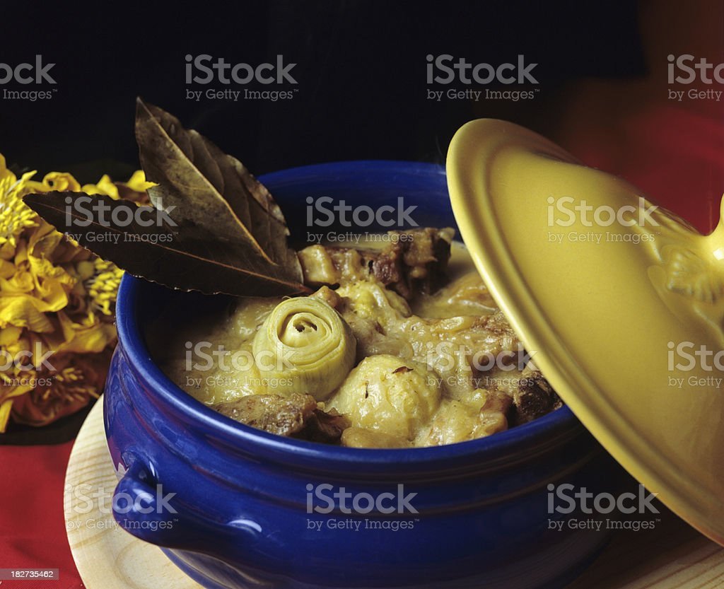 Lamb and artichokes royalty-free stock photo