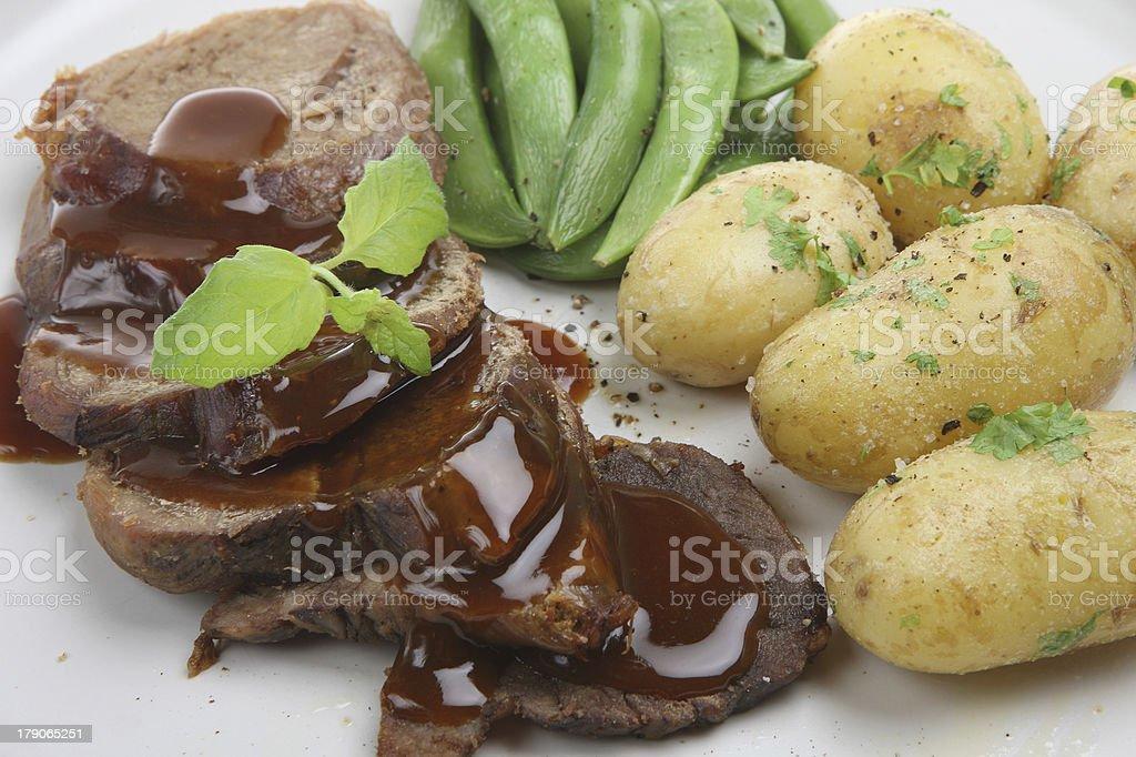 Lamb and New Potatoes royalty-free stock photo