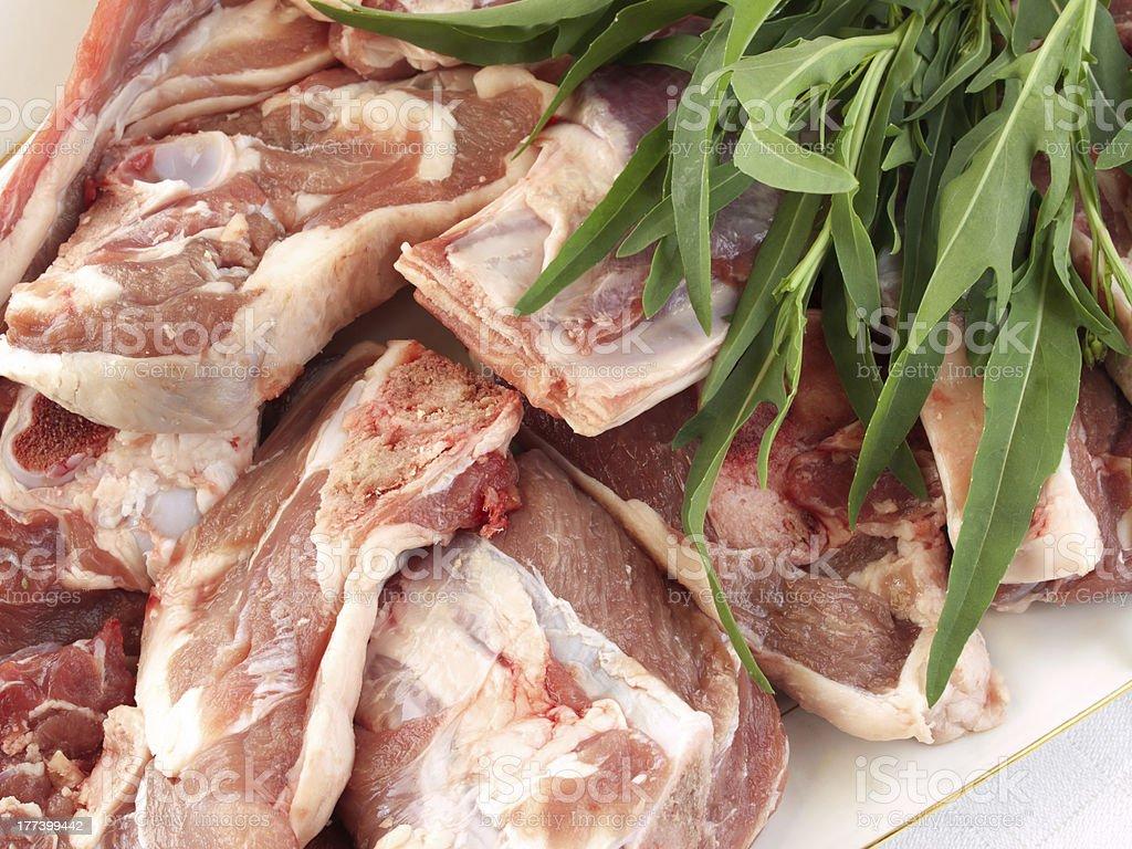 lamb and rocket royalty-free stock photo