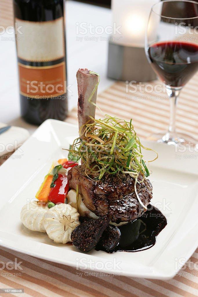 Lamb Chop Lunch royalty-free stock photo