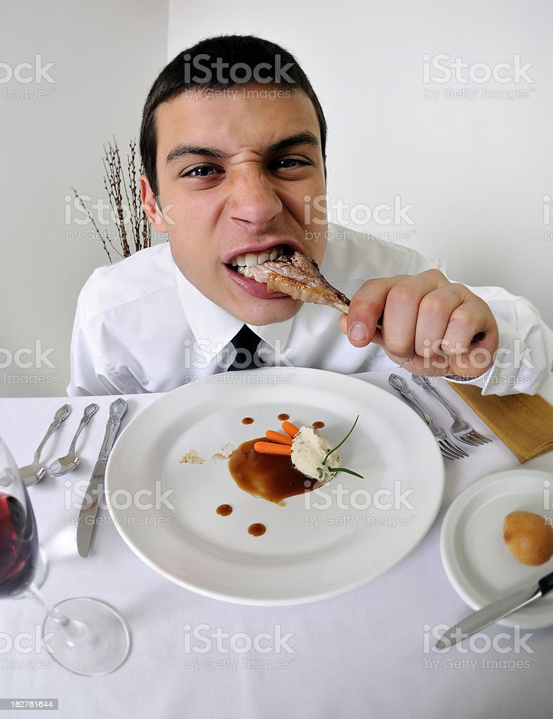Lamb Chop Piggy and Fisheye royalty-free stock photo