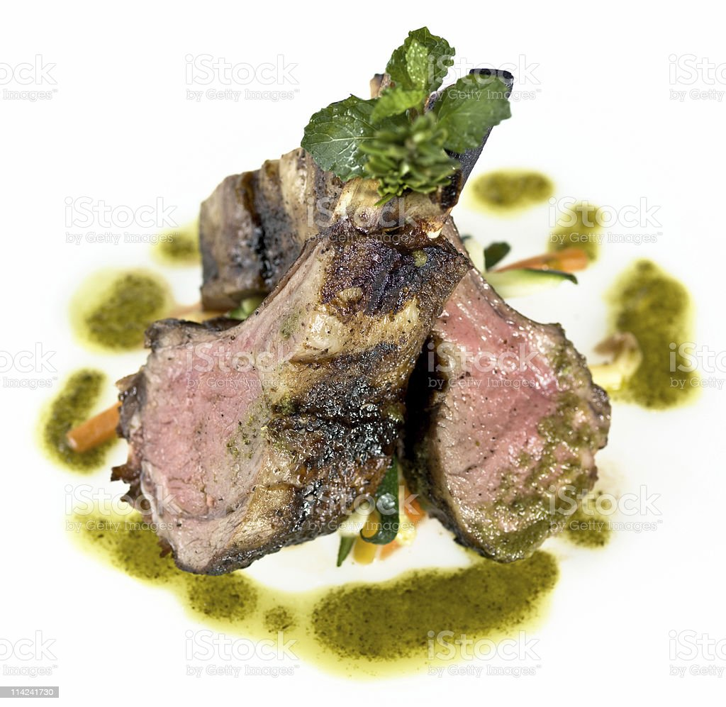 Lamb Chops and Vegetables royalty-free stock photo