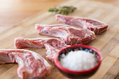 Lamb Chops on a cutting board