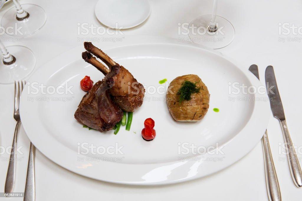 Lamb Chops or Muuton Chops stock photo