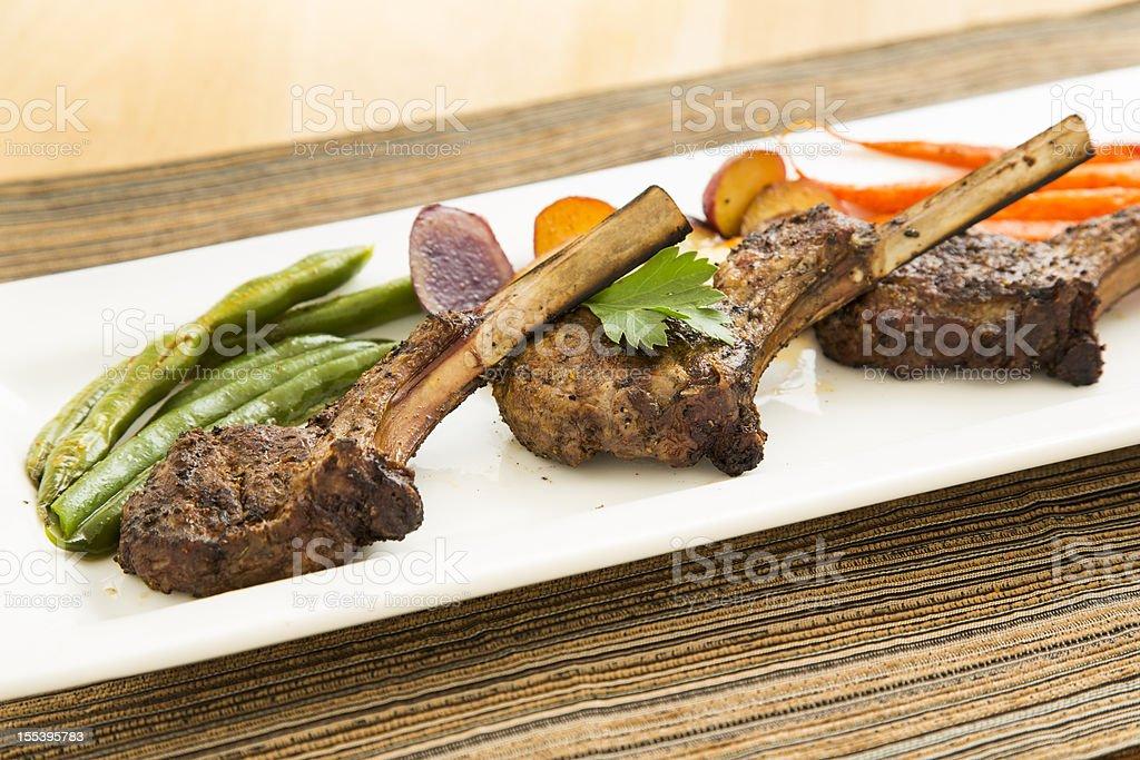Lamb Chops stock photo