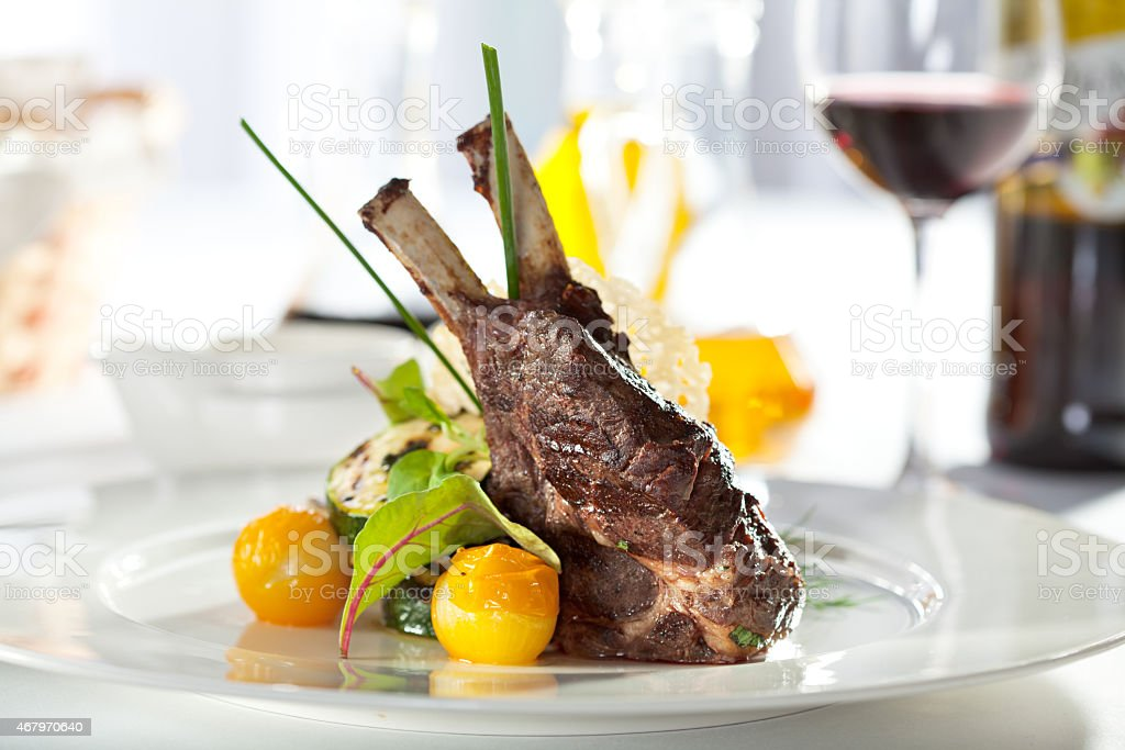 Lamb Chops stock photo