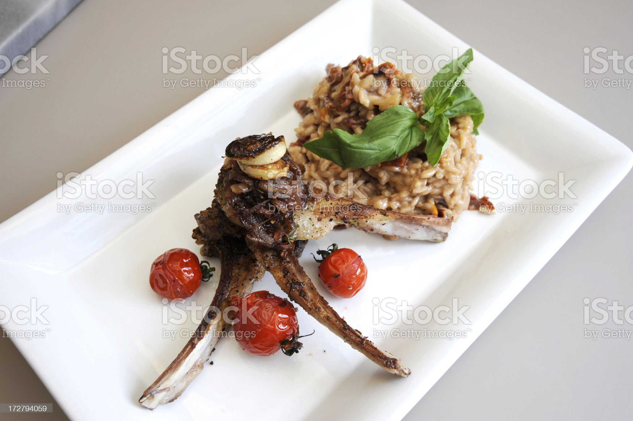 Lamb Chops with Risotto royalty-free stock photo