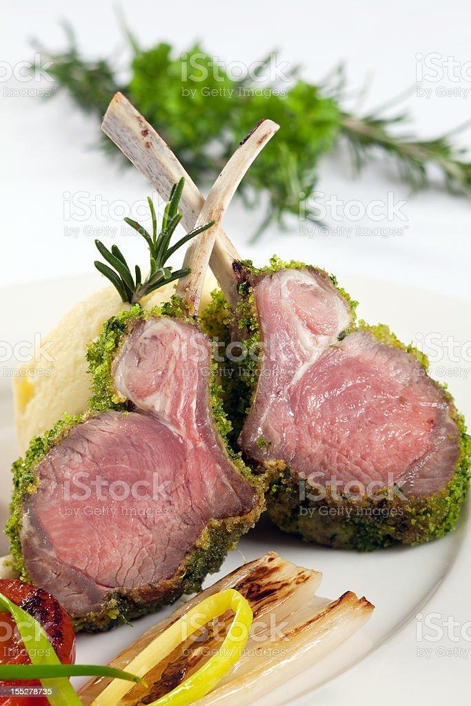 lamb Dinner royalty-free stock photo