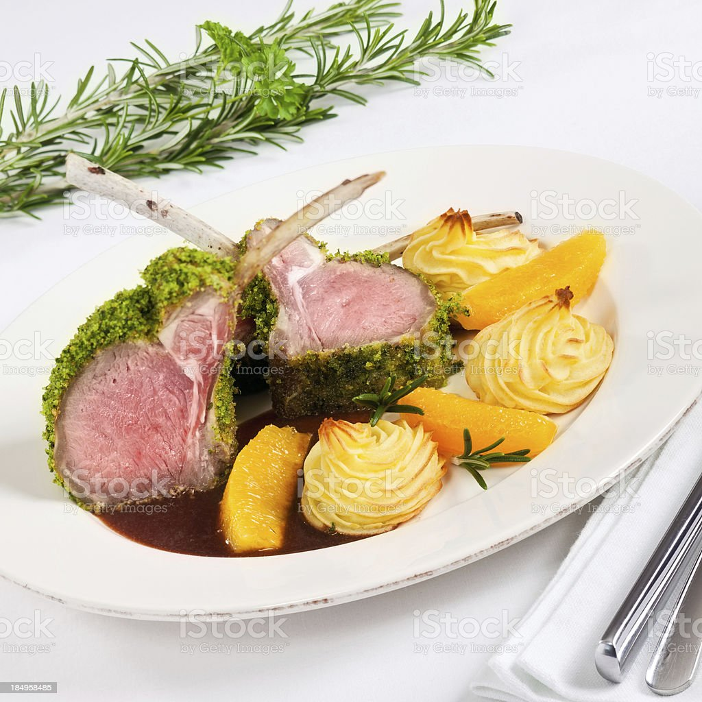 Lamb Dinner stock photo
