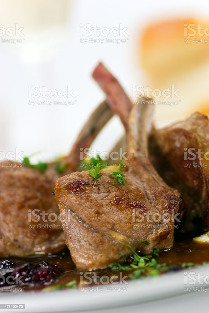 lamb fillet-tenderloin,grilled with sauce royalty-free stock photo