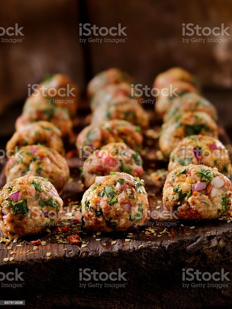 100% Lamb -Greek Meatballs stock photo