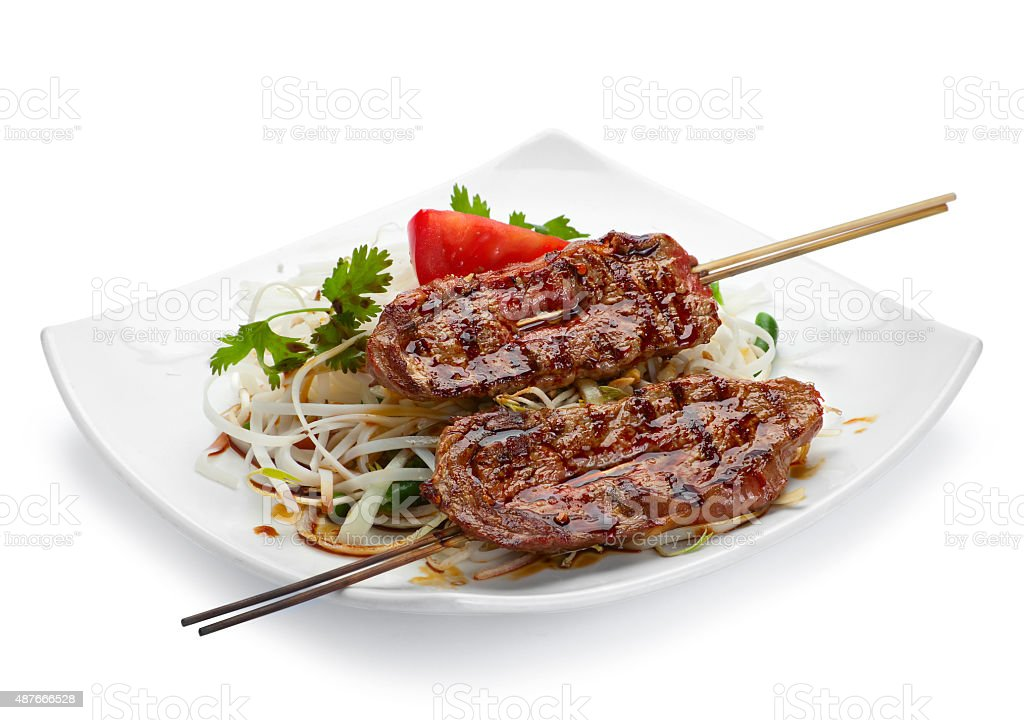 Lamb grilled meat stock photo