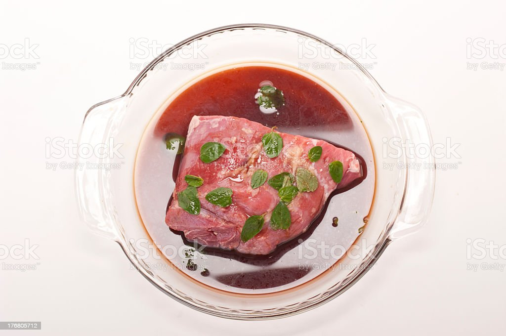 Lamb in marinade royalty-free stock photo