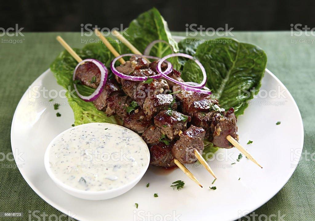 Lamb Kebabs stock photo