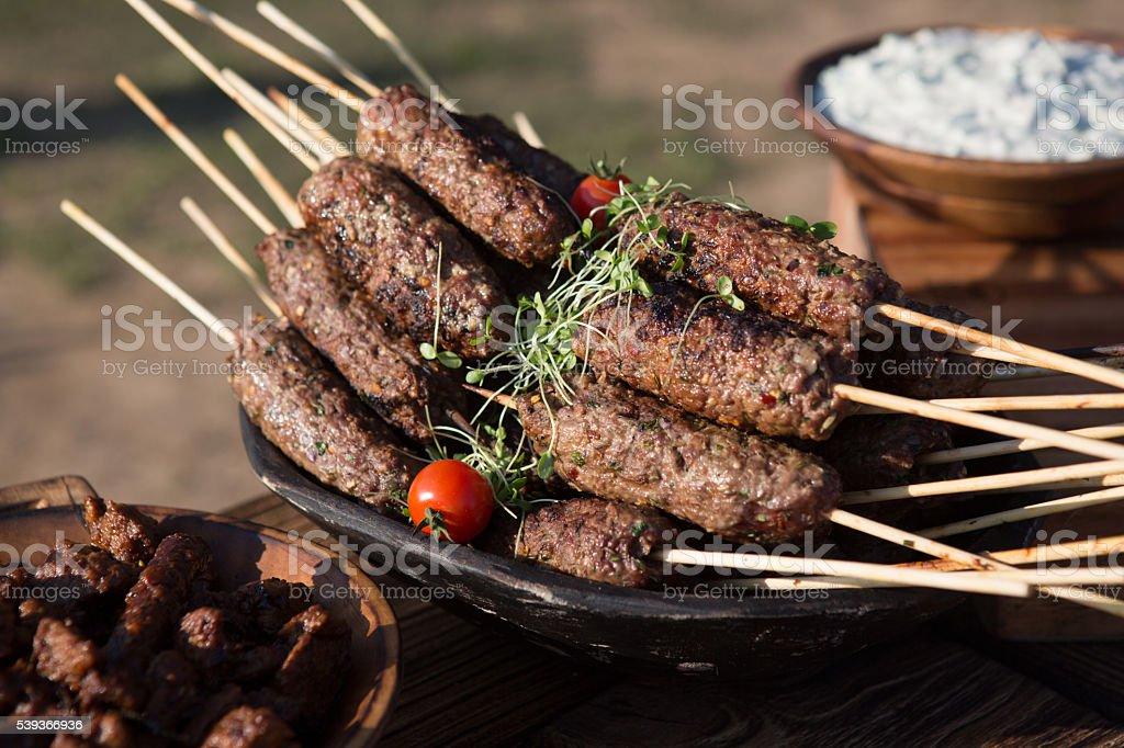 Lamb Koftas stock photo