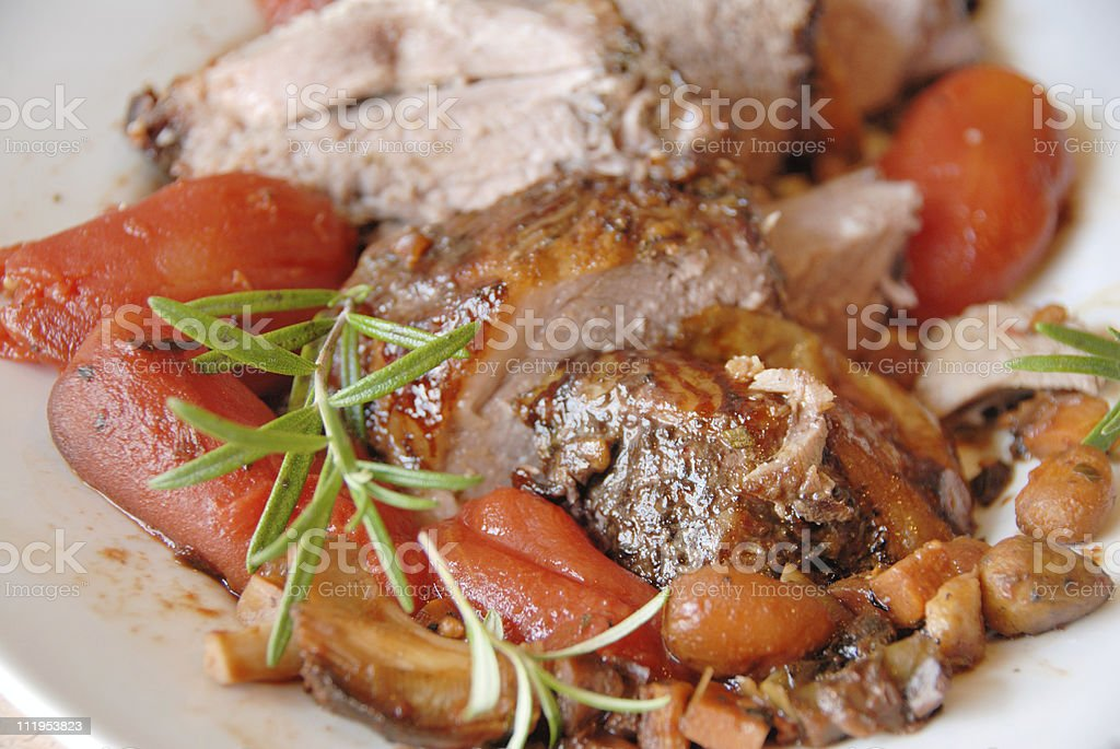 lamb meat in sclices royalty-free stock photo