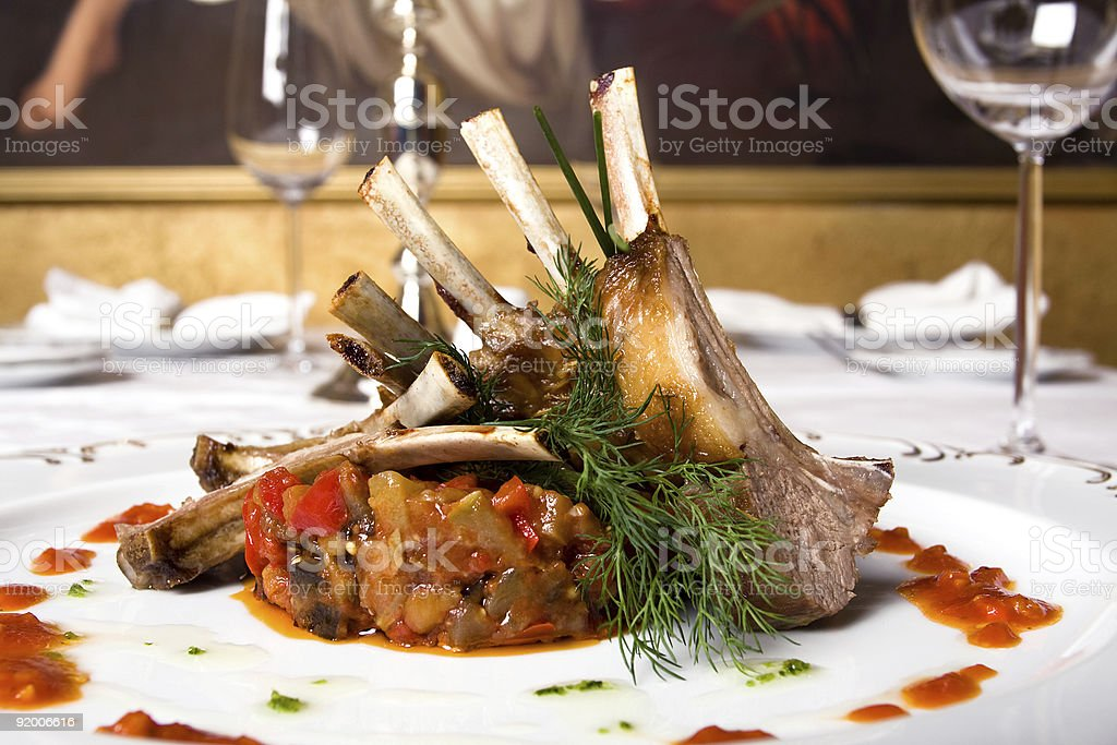 lamb meat on bones royalty-free stock photo