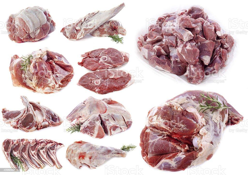 lamb meat stock photo