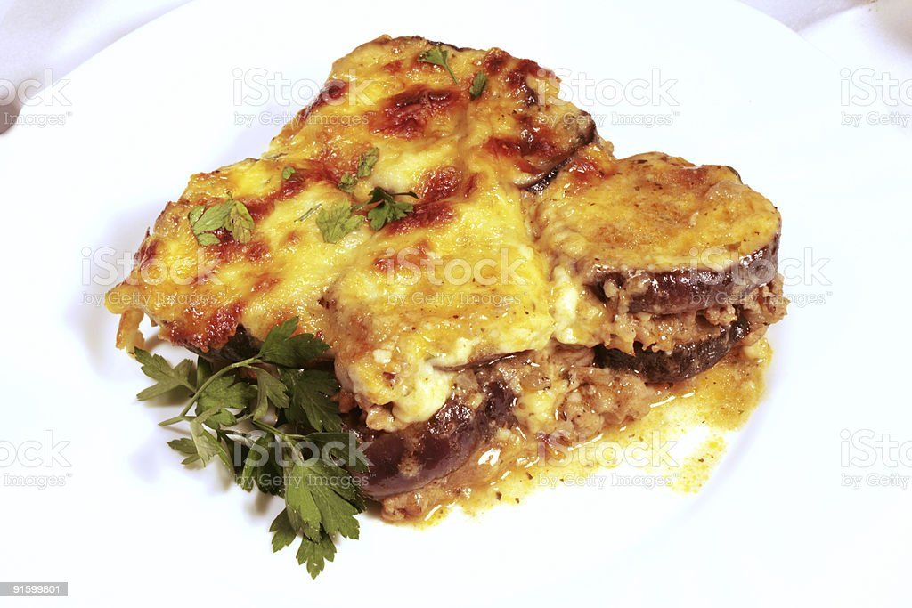 Lamb moussaka royalty-free stock photo