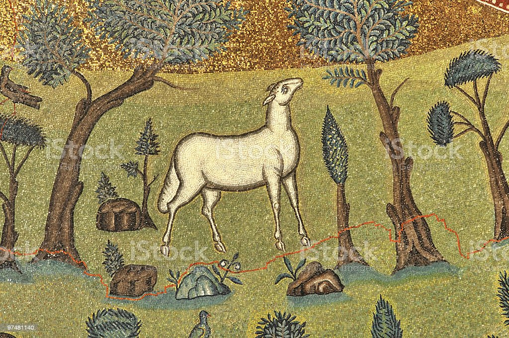 Lamb of god stock photo