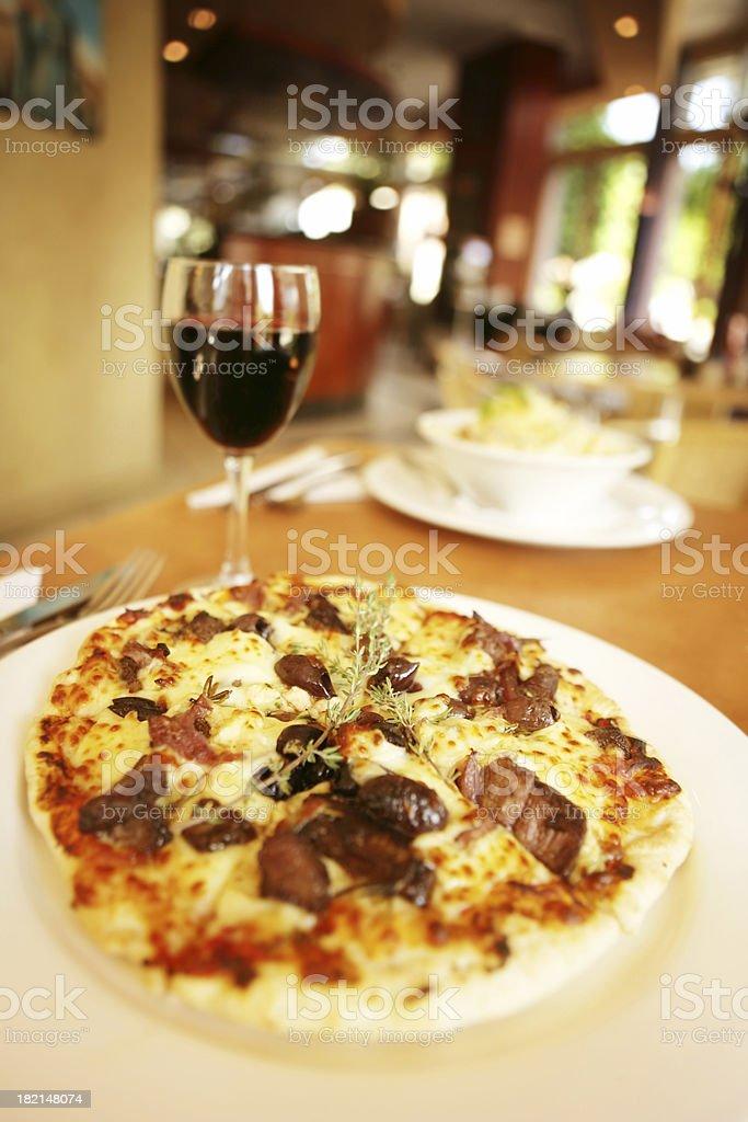 Lamb Pizza royalty-free stock photo