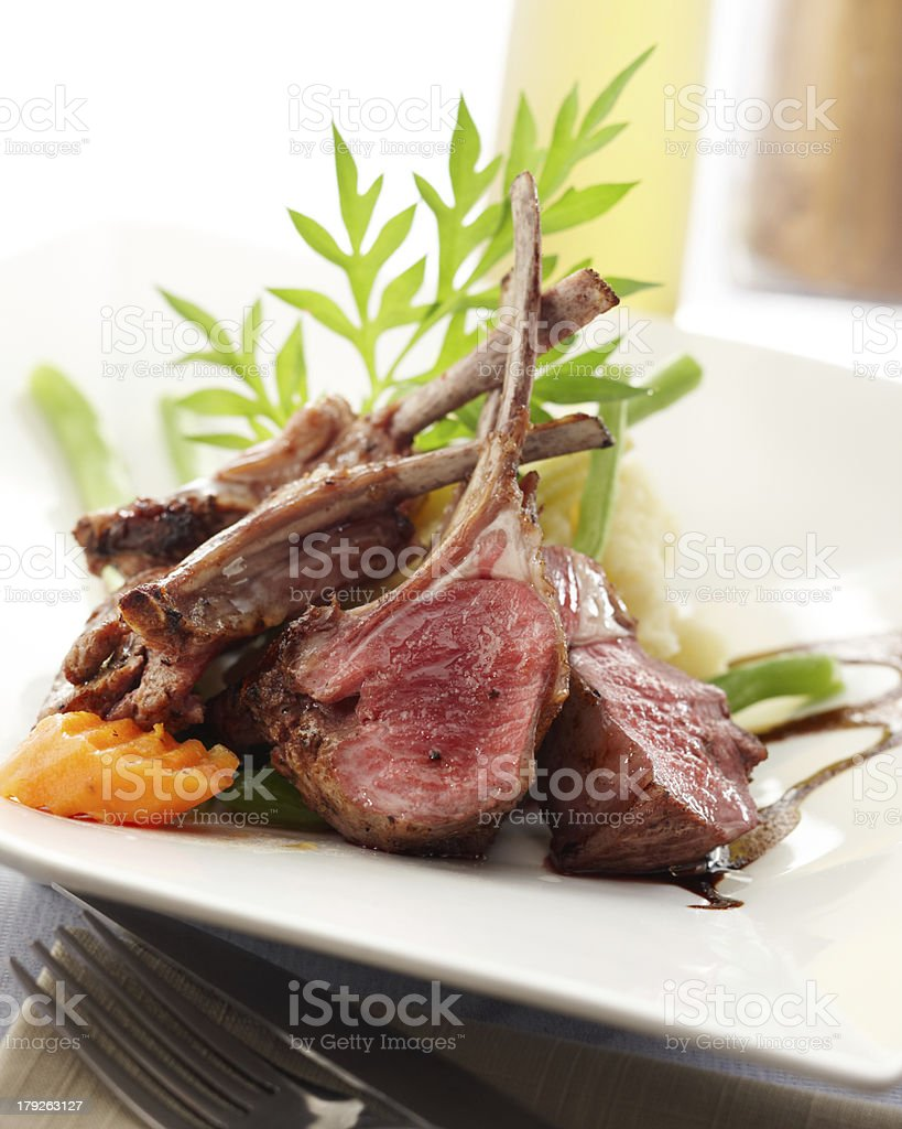 lamb rack stock photo