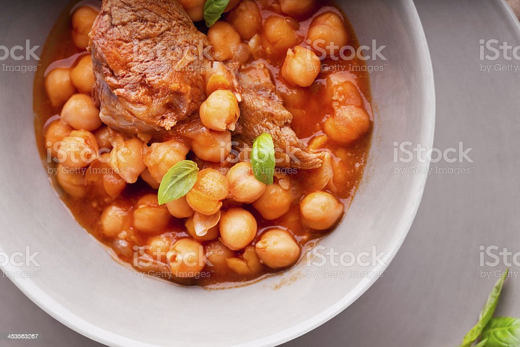 Lamb Ragout with chickpeas royalty-free stock photo
