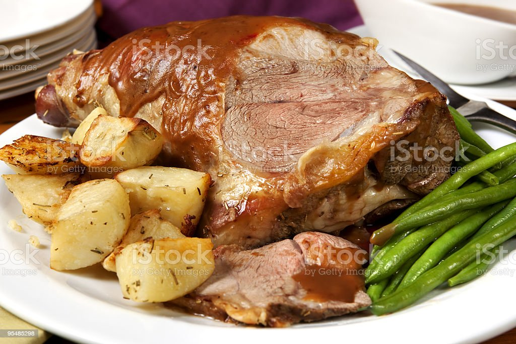 Lamb Roast stock photo