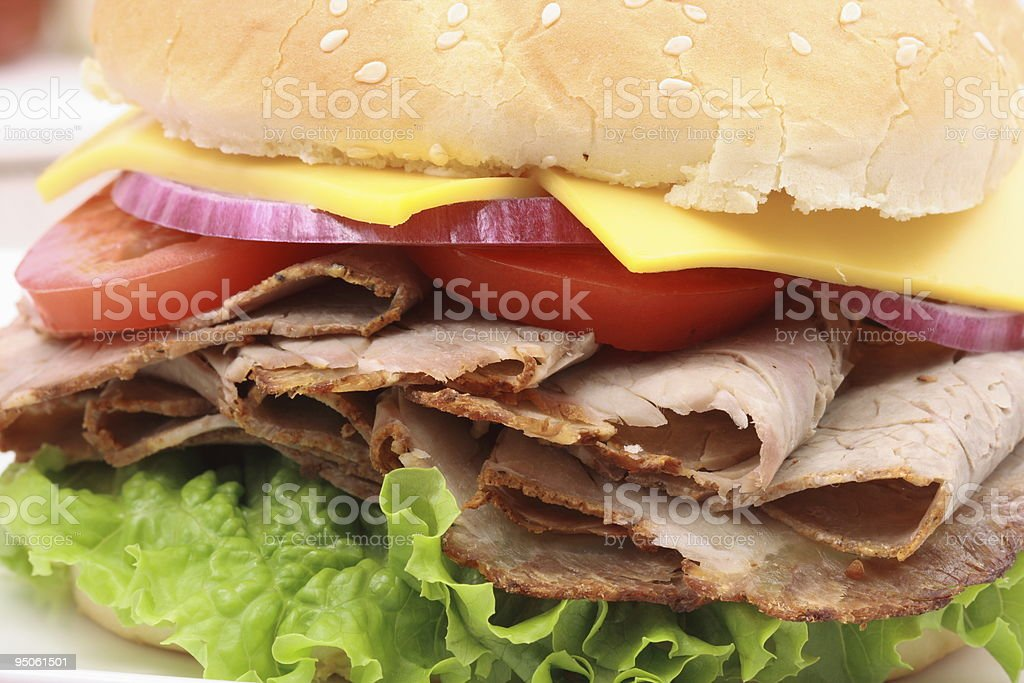 lamb sandwich royalty-free stock photo